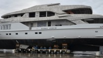 1-54m motor yacht C24 1 (M54) under construction at Mondo Marine